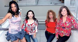 Dionne Character, Keiko Komaki, Lynn Drury and Lani Ramos